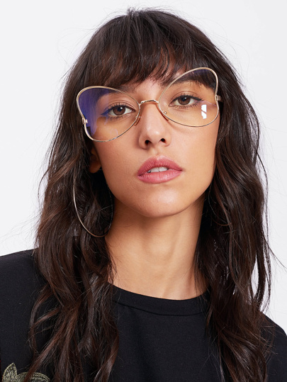 Heart Shaped Metal Frame Glasses