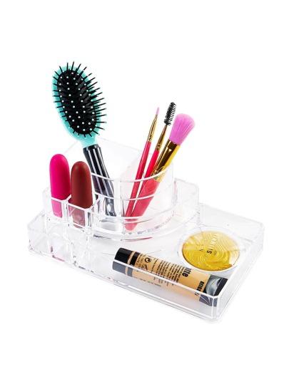 Organizer de maquillage clair
