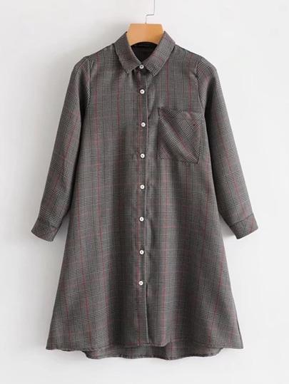 Vestido estilo blusa de cuadros