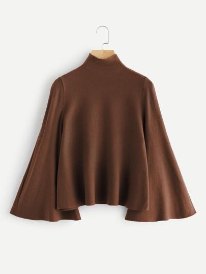 Jersey con cuello mock