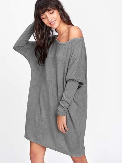 Pull robe manche chauve-souris
