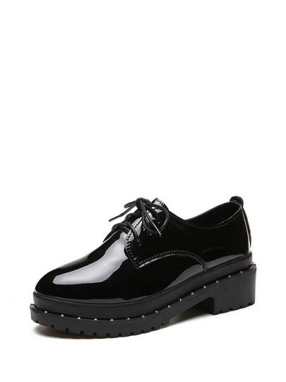 حذاء بسهولة-بنعل عريض بجلد صناعي