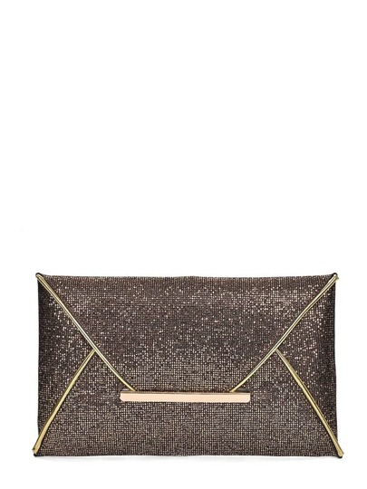 Glitter Envelope Clutch Bag