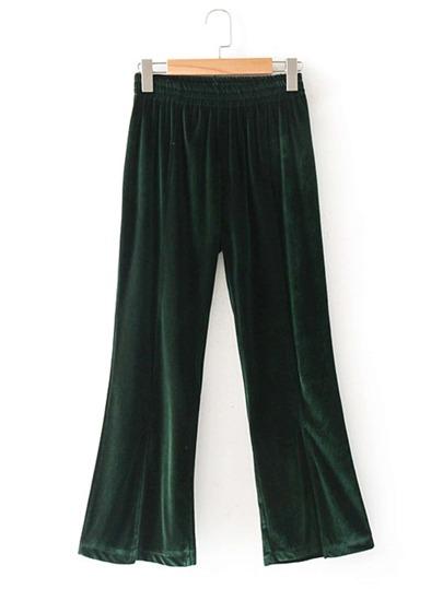 Pantalones de terciopelo de cintura elástica