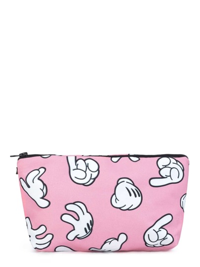 Finger Print Makeup Bag