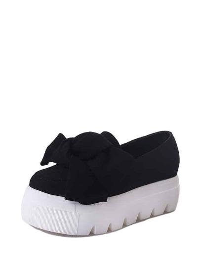 حذاء بسهولة-بنعل عريض بعقدة انشوطة