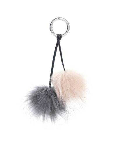 Double Pom Pom Design Keychain