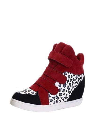 أحذية الرياضة-بكعب عال بنمط فهد