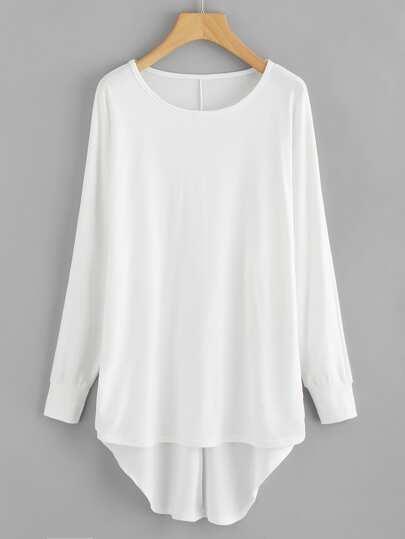 Sweat-shirt oversize asymétrique