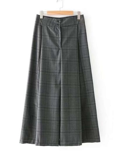 Pantalones de cuadros con pernera ancha