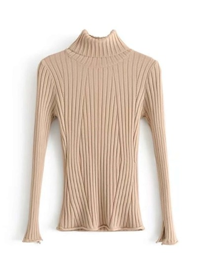 Slim Fit Turtleneck Knitwear