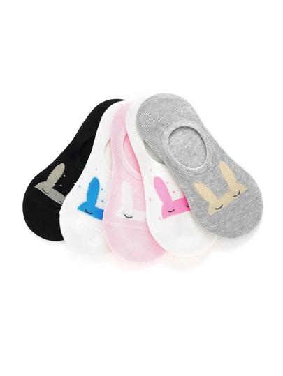 Calcetines tobilleros con patrón de oreja de canejo