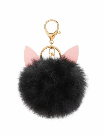 Pom Pom Keychain With Ear