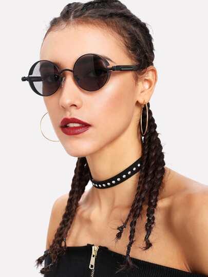Gafas de sol de lente redondos