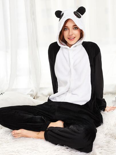 Plush Panda Onesie