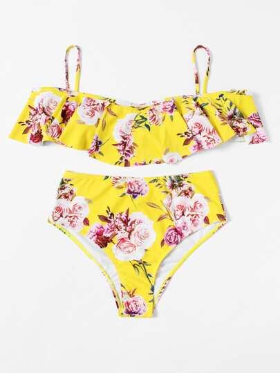 Set de bikini con estampado floral