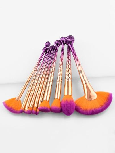 Ombre Handle Makeup Brush 10pcs