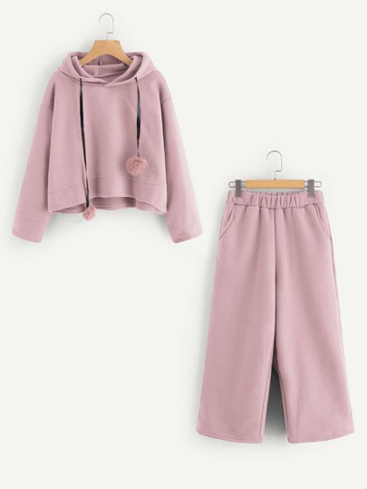Pom Pom Detail Hoodie And Pants