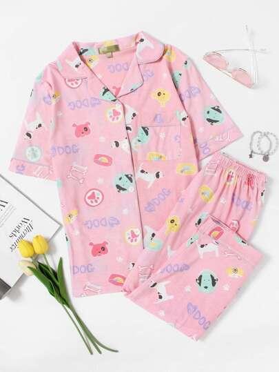 Animal Print Pajama Set