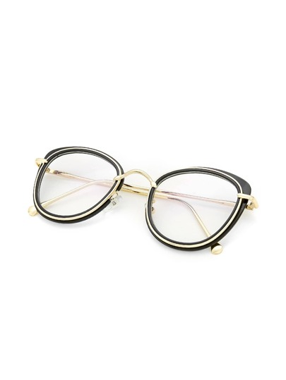 Two Tone Frame Clear Lens Glasses