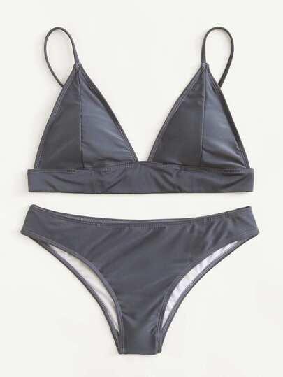 Set de bikini triángulo con tiras ajustables
