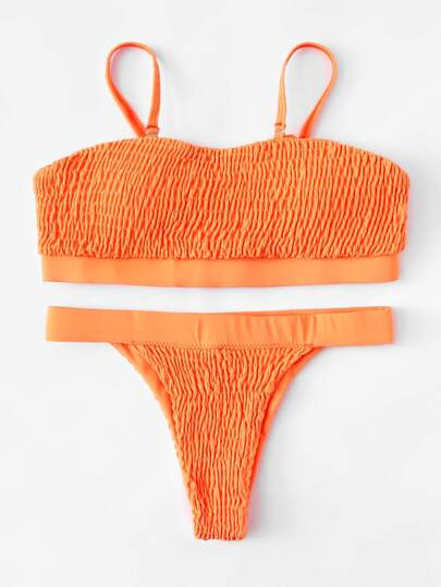 Set de bikini fruncido
