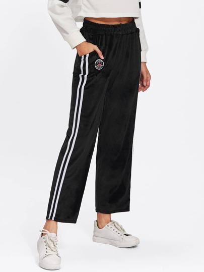 Pantalons en velours avec bande