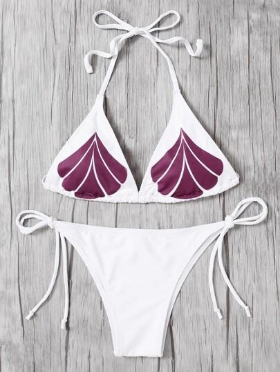 Set de bikini con lazo