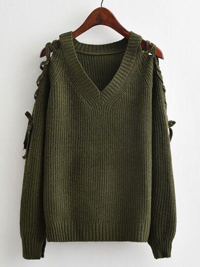 Jersey de manga raglán y detalle de cordón