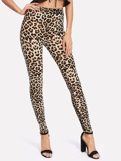 Leopard Print Skinny Leggings