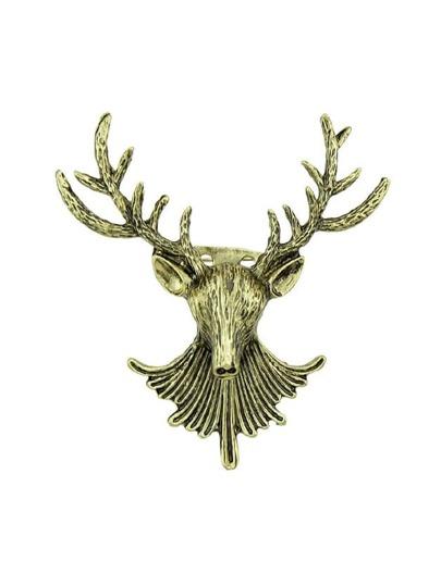 Broche style antique en forme de la tête de cerf
