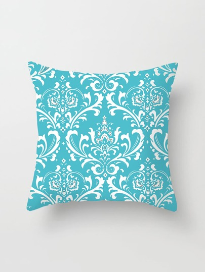 Damask Print Pillowcase Cover