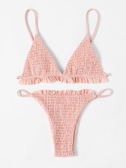 Set de bikini con diseño fruncido
