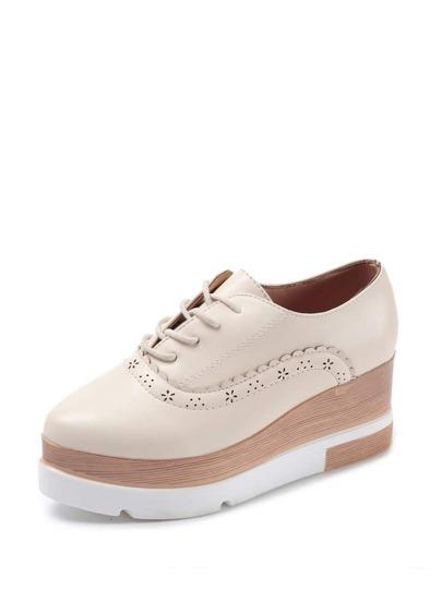 حذاء الاحذيية الاكسفورد لون الابيد