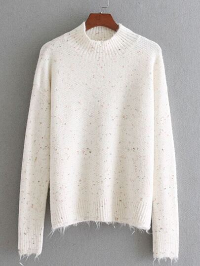 Ripped Trim Jumper Sweater