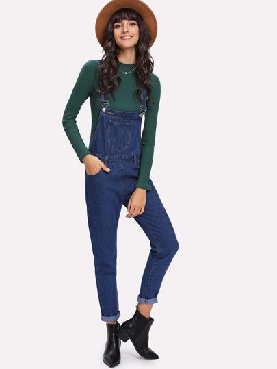 Salopette en jeans avec poche devant