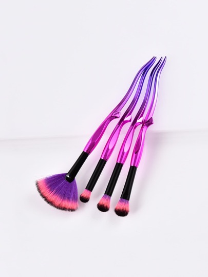 Ombre Handle Makeup Brush 4pcs