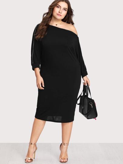 Zip Sleeve Dress