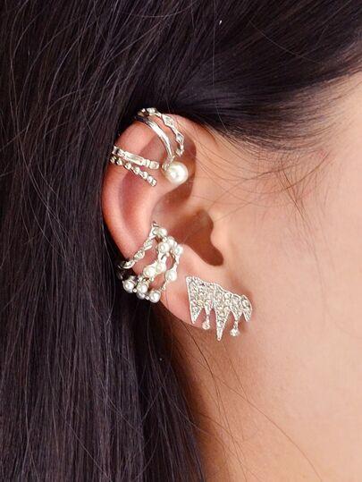 Set di orecchini 9 pezzi