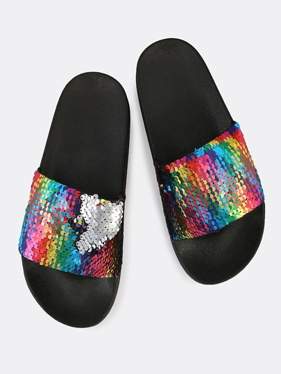 Mermaid Sequin Slippers MULTI