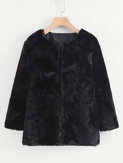 Faux Fur Short Coat