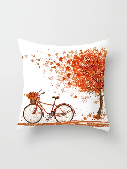 Tree Print Pillowcase Cover