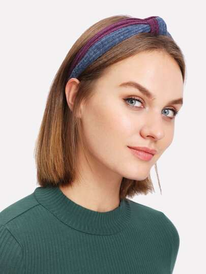 Two Tone Knot Headband