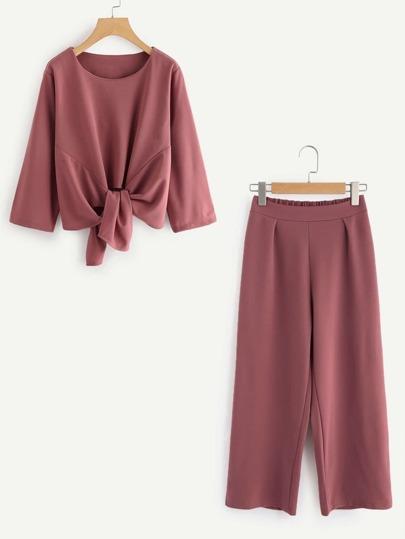 Top avec nœud & Pantalons