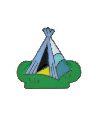 Tent Colorful Enamel Pattern Brooch For Women Girl
