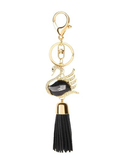 Swan & Tassel Design Keychain