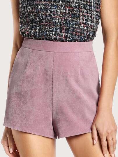 Pocket Side Corduroy Shorts