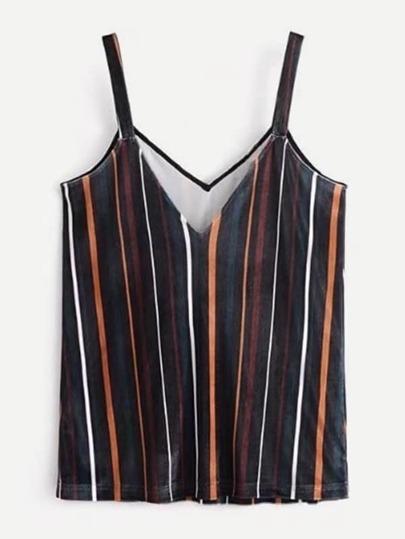 Striped Velvet Cami