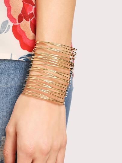 Hollow Ring Design Cuff Bracelet