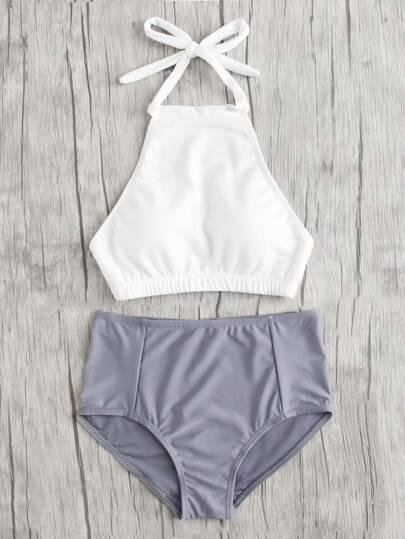 Mix And Match High Neck Bikini Set